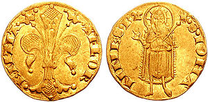 Republic of Florence - Front and back of a Florentine florin
