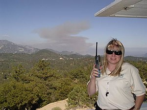 Fire lookout - Reporting smoke is a Fire Lookout's primary duty in the wilderness.