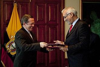Foreign relations of the Sahrawi Arab Democratic Republic - Memorandum of understanding between Ecuador and SADR, in Quito, July 2012