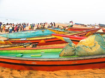 Fishing Boats, Early Morning, Puri Beach, Orissa.jpg