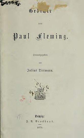Paul Fleming (poet) - Gedichte (1870)