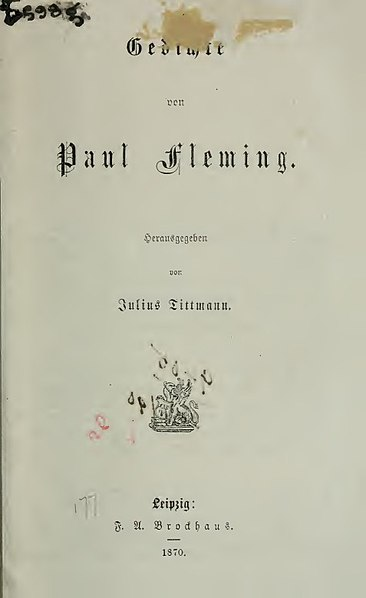 Файл:Fleming, Paul – Gedichte, 1870 – BEIC 2799100.jpg