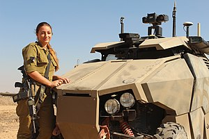 Guardium - The size of the vehicle compared to a person.