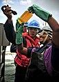 Flickr - Official U.S. Navy Imagery - Sailors check fuel samples at sea..jpg