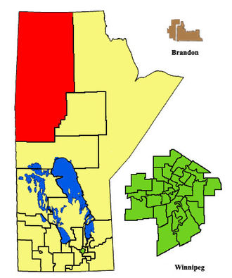 Flin Flon (electoral district) - Image: Flin Flon ED2011