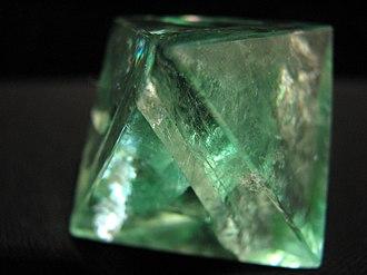 Octahedron - Fluorite octahedron.