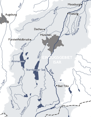 Amper - The Ammer/Amper system within the  Isar basin