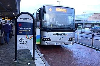Flygbussarna - Volvo 8700 at Göteborg Landvetter Airport