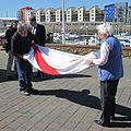 Folding the Jersey flag 2011 5.jpg