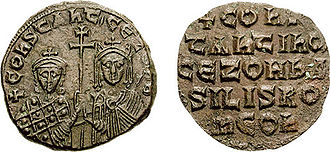 Follis -  Constantine VII and Zoe.