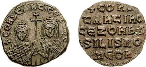 Follis-Constantine VII and Zoe-sb1758