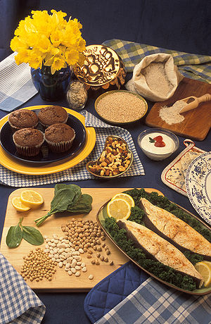 Nutrient - Good sources of magnesium: bran muffins, pumpkin seeds, barley, buckwheat flour, low-fat vanilla yogurt, trail mix, halibut steaks, garbanzo beans, lima beans, soybeans, and spinach