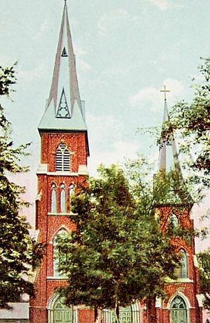 Agora Grand Event Center - 1910 postcard of the former St. Patrick's Church