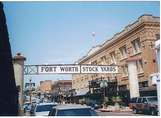 Fort Worth, Texas - Entrance to Fort Worth Stockyards, 1999