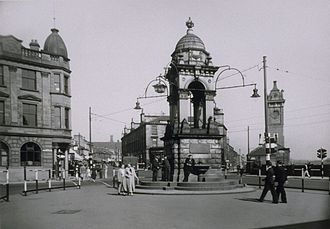 Coatbridge - The Whitelaw Fountain in Coatbridge during the 1930s