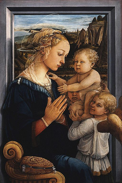 Fra Filippo Lippi - Madonna and Child with two Angels - Uffizi