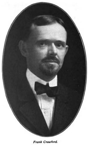 Frank Crawford - Crawford as law professor at Creighton, 1909.