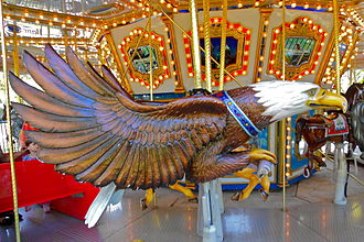 Franklin Square (Philadelphia) - Image: Franklin Sq Carousel eagle