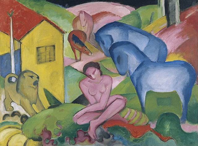 """""""Der Traum"""" by Franz Marc (1880–1916) (image from Wikipedia)"""
