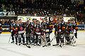 Fribourg-Langnau Janvier 2010 - équipe de Gottéron.jpg