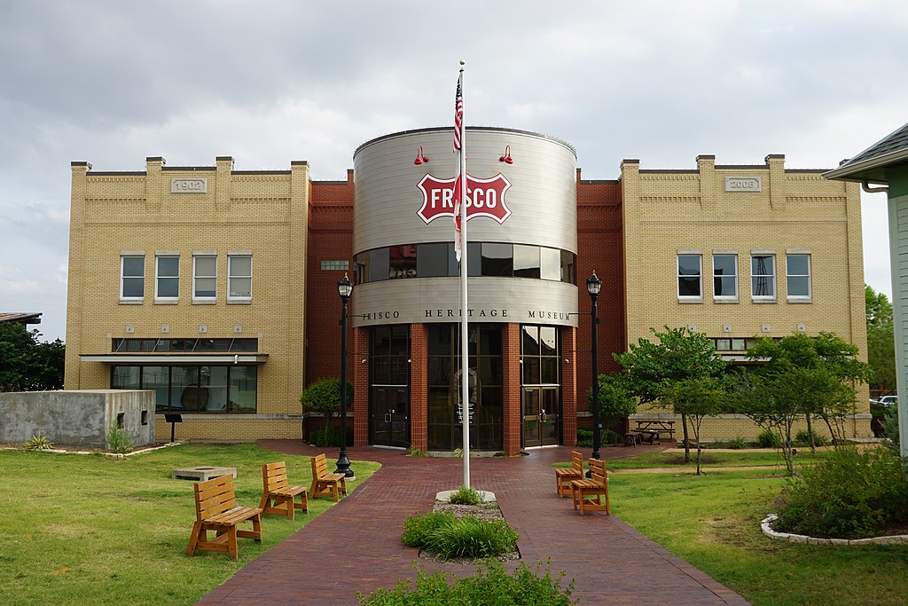 front facade of frisco heritage museum, one of the best things to do in frisco texas
