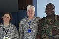 From left, U.S. Army Lt. Col. Debra Lien, with the 141st Maneuver Enhancement Brigade (MEB), North Dakota Army National Guard; Col. Giselle Wilz, the commander of the 141st MEB; and Ghana Army Lt. Col. Rex 130618-Z-ZZ999-002.jpg