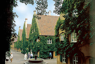 Fuggerei worlds oldest social housing complex, built by Jakob Fugger in Augsburg