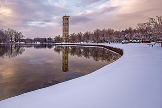 Furman University - Located in the Upstate of South Carolina, Furman University gets snow in the winter as seen in 2016.