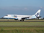 G-FBJI Flybe Embraer ERJ-175STD (ERJ-170-200) - cn 17000355 takeoff from Schiphol (AMS - EHAM), The Netherlands pic1.JPG