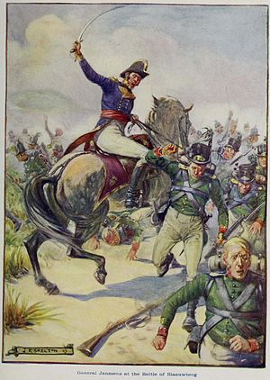 Battle of Blaauwberg - General Janssens at the Battle of Blaauwberg