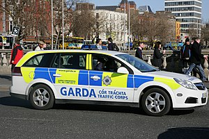 Garda Síochána - Garda Traffic Corps car
