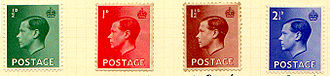 Edward VIII postage stamps - The complete British series.