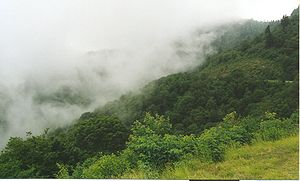 English: Therefore the name. Low clouds over G...