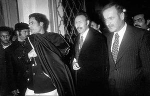 Steadfastness and Confrontation Front - Right to left: Syrian president Assad, Algerian president Boumedienne and Libyan leader Gaddafi at the Front summit in Tripoli, December 1977