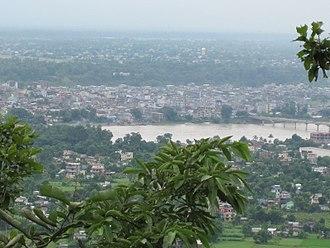 Bharatpur, Nepal - Bharatpur city view from Maula Kalika temple Gaindakot
