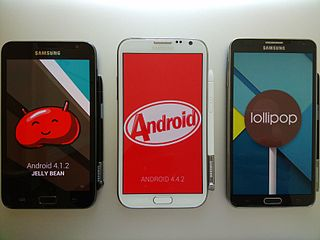 Samsung Galaxy Note series series of Android phablets in the Samsung GALAXY series