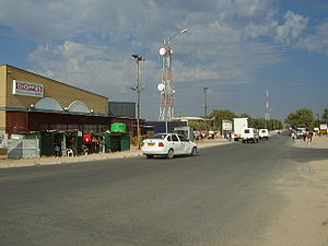 Ghanzi District - High Street in Ghanzi