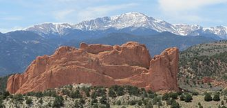 Highpointing - Pikes Peak, tallest mountain in El Paso County, Colorado