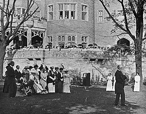 Casa Loma - Garden party at Casa Loma, 1914