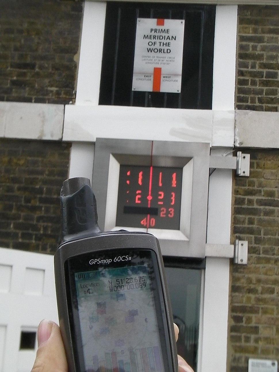 Garmin GPS at Greenwich Observatory