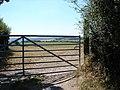 Gate & field near Llanfihangel-y-Creuddyn - geograph.org.uk - 208104.jpg