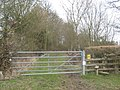 Gate and stile on Troy Lane - geograph.org.uk - 1755523.jpg