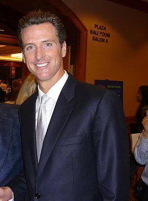 Gavin Newsom, mayor of San Francisco.