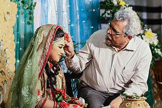 Gaye holud Part of the Bengali wedding ceremony, involving turmeric