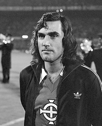 George Best - Best with Northern Ireland in 1976