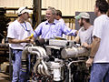 George Bush visits US Marine boat manufacturing facility, August 2006.jpg