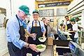 George Miller and Thomas Perez at Dupont Circle Sweetgreen restaurant, 2014.jpg