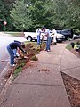 Georgia Native Plant Society planting butterfly garden in Heritage Park, Mableton, Cobb County, Sept 2015 09.jpg