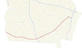 U.S. Route 84 in Georgia - Image: Georgia state route 38 map