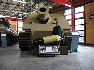 Assault gun - Sturmtiger in the Deutsches Panzermuseum at Munster, Lower Saxony.